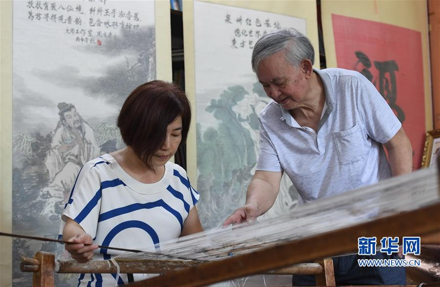 (文化)(2)福建永春:千年纸织画的传承