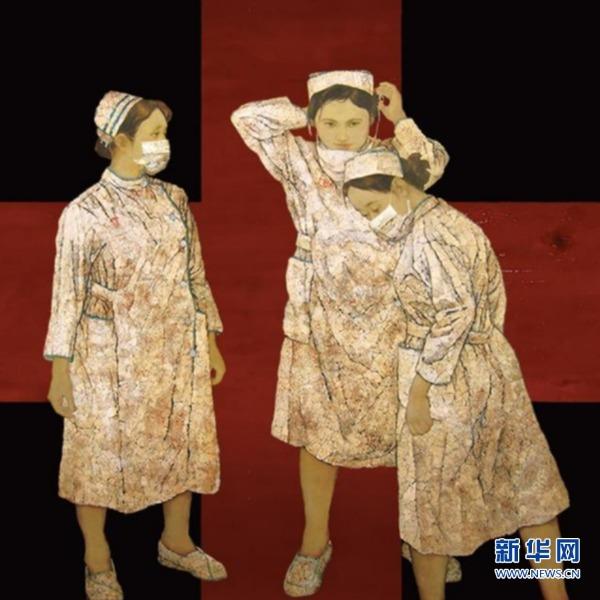 福州:笔墨丹青描绘抗疫画卷